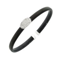 18K WG DIAMOND STEEL BRACELET-$1491.00