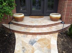 Jessup Travertine Front Porch and Walkway Centerville, Ohio