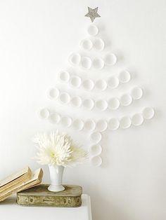 Alternatieve kerstboom van cupcakes