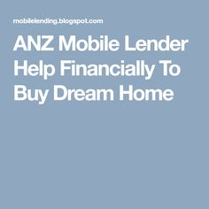 ANZ mobile lender is arranging meetings with their clients anywhere like offices or at your places, and we are talking to you on workin. Stuff To Buy, Home, House, Homes, Houses