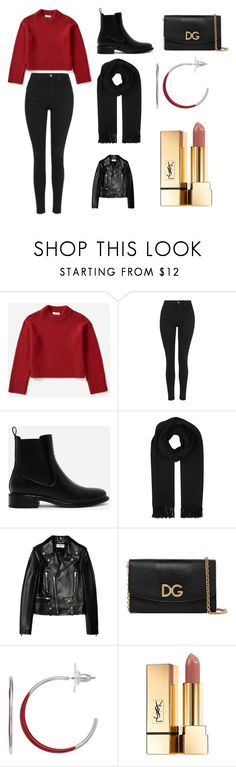 """""""Sans titre #9249"""" by yldr-merve ❤ liked on Polyvore featuring Everlane, Topshop, CHARLES & KEITH, Acne Studios, Yves Saint Laurent and Dolce&Gabbana"""