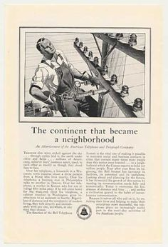 AT Bell Telephone Lineman art (1930)