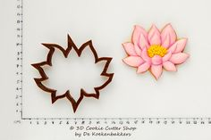 Lotus Cookie Cutter by 3DCookieCutterShop on Etsy