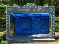 The stage my husband and I built for our Backyard Talent Show
