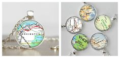 Handcrafted, custom map necklace or keychain. Have a favorite place? Moving Away Gifts, Map Necklace, Custom Map, Town And Country, Trendy Clothes For Women, Dream Vacations, Handmade Crafts, Special Events, Sassy