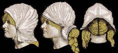 Possible types of Viking headdresses from Coppergate and Lincoln (after Gale Owen-Crocker).