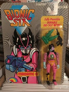 This is Madame-O from the Bionic Six line of toys and action figures from LJN. These are part of my personal toy collection.