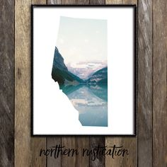 Banff Alberta Print - Calgary Edmonton Red Deer Lake Louise -  Mountains Poster Map - Customizable Home Decor - Canadiana - Made in Canada