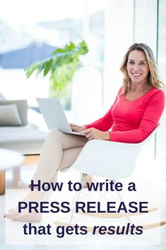Have you ever put together a press release, sent it off and. Here's how to write a press release that gets results via public relations writing tips. Writing A Press Release, Storytelling Techniques, Online Publications, Business Checks, Marketing Communications, Growing Your Business, Public Relations, Writing Tips, Content Marketing