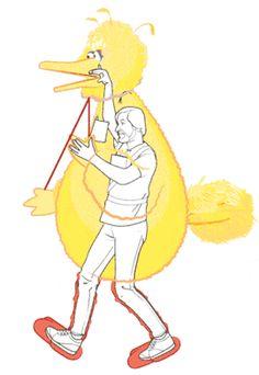 1. Ingeniería pura: Es así como interpretaban al pájaro amarillo de Plaza Sesamo.