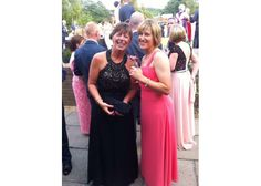 Helen in gorgeous black Dynasty evening gown for Forces Summer Ball