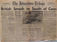 The Johnstown Tribune - World War II: July 17, 1944: British Smash to South of Caen