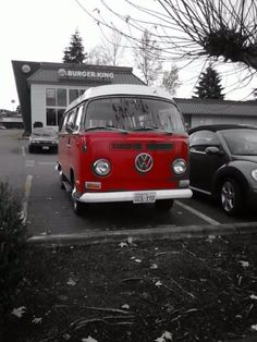 Hippy van  =)   I just want one that's lime green or maybe blue.  I like this red one though.
