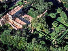 Villa Aurelia, Rome, Aerial photo.