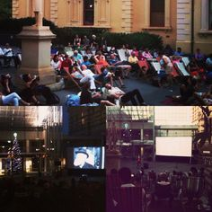 Love this outdoor cinema set up we had at the State Library Adelaide for a screening of Miracle 34th Street.