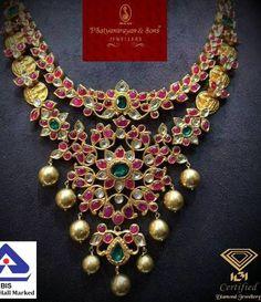 Ruby Bridal Set by Satyanarayana Jewels   Jewellery Designs