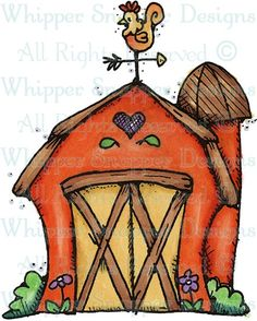 Barn - Farm - Animals - Rubber Stamps - Shop