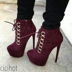 Wine colored velvet shoes