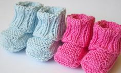 No Sew Knitted Baby Booties with Free Pattern