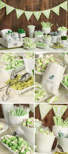 "Challenge: Create a candy buffet suitable for 100 guests that costs under $200 Theme: Rustic/country charm Colors: Bright shades of green and white Challengers: Carynn & Jackie   Jackie (our photographer) and I started by scouring local thrift stores. In just two hours we found a variety of ""milk glass"" containers in all shapes, sizes and […]"