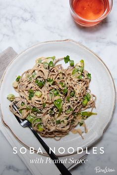 Soba Noodles with Peanut Sauce. Quick, easy and healthy. This incredible recipe only takes 3 steps and 45 minutes to make. Great for lunch or a fast dinner you can make at home.