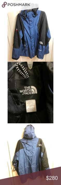90's Blue The North Face Jacket Goretex Hyvent 90's The NorthFace Blue and Black Shell Goretex Material Hyvent Ultra Exclusive and Hard to Find , The North Face Logo on the back and The North Face Logo on the Left Sleeve, Hyvent Logo as well on the right Sleeve and Summit Series on the top right sleeve... No Damages, No Holes, No Rips, No Stains... Jacket in Amazing Condition.... Enjoy 😊 The North Face Jackets & Coats Lightweight & Shirt Jackets