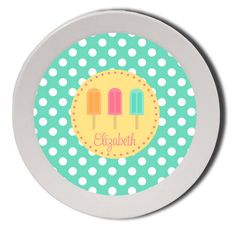 Personalized Melamine Bowl by Pink Wasabi Ink