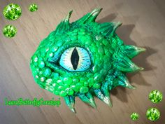 Occhio di drago su pietra in pasta modellabile | How to make a polymer clay dragon eye |