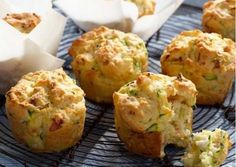 Bacon Fetta and Zucchini Muffins