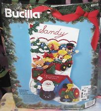 Bucilla CHRISTMAS EXPRESS Jeweled Felt Applique Santa Train Stocking Kit NEW NIP Christmas Stocking Kits, Felt Christmas Stockings, Christmas Express, Felt Applique, Amazon Art, Sewing Stores, Sewing Crafts, Jewels, Holiday Decor