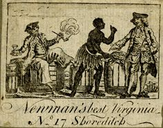 Tobacco-paper for 'Newman's best Virginia' from the British Museum, 18th century