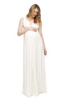 LONG SLEEVELESS CAFTAN DRESS - WHITE