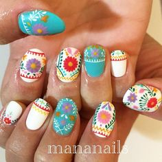 """""""embroidery flowers"""" Photo taken by @mananails on Instagram, pinned via the InstaPin iOS App! http://www.instapinapp.com (01/04/2016)"""