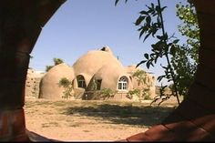 Adobe House in California. Made from bags of earth. Thermally efficient.