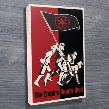 Buy The Empire Needs You Star Wars Artwork. This is one of our Star Wars posters, Vintage Star Wars Art, The Empire Needs You! and you need this poster. Stretched Canvas Prints, Canvas Art Prints, Star Wars Wall Art, Propaganda Art, Star Wars Gifts, Star Wars Poster, Sale Poster, Photo Canvas, Poster Prints