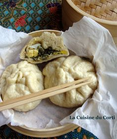 La cuisine du Corti: Banh bao aux blettes Veggie Recipes, Asian Recipes, Tasty, Yummy Food, Asian Cooking, Cooking Food, No Cook Meals, Entrees, Food To Make