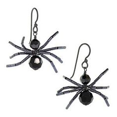 Spidey Earrings Inspiration Project - diy jewelry To Sell Ideen Holiday Jewelry, Fall Jewelry, Wire Jewelry, Jewelry Logo, Silver Jewelry, Turquoise Jewelry, Jewelry Quotes, Jewlery, Swarovski Jewelry