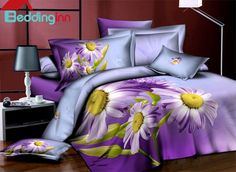 Hot Selling Fresh Flowers Series 4 Pieces #BeddingSets #floralbedding