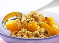 Heart Healthy Recipes - Peach Crumble Recipe