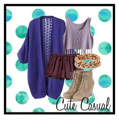 Women's fashion, cute casual idea.