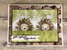 Painted Harvest Hedgehogs - Frenchie's Stamps