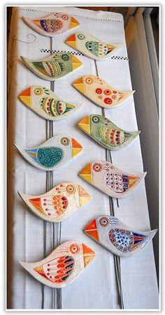 Clay Birds, Ceramic Birds, Ceramic Clay, Polymer Clay Crafts, Diy Clay, Diy Arts And Crafts, Paper Crafts, Homemade Clay, Pottery Handbuilding