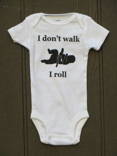 "baby Brazilian jiu jitsu bodysuit ""I roll"" BJJ. {OMG, MUST HAVE WHEN I HAVE A BABY}"