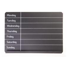 http://www.sassandbelle.co.uk/ Weekly Planner Chalk Board
