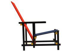 Gerrit Rietveld, red and blue , 1918 Rietveld Chair, Blue Vans, Design Art, Interior Design, Bauhaus, Chair Design, Industrial Design, Red And Blue, Blue Lounge