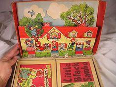 16 Childrens Books Old Paper Books Black Sambo, Peter Rabbit, 3 Kittens +++