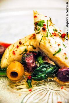 ANNA-SAPORI E SORRISI: Filetto di orata con pomodorini, spinaci saltati e olive piccanti