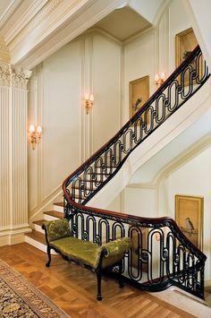 Stairwell ironwork design