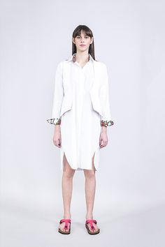 ROMANI STYLE LONG SHIRT From the SS2016 Ikon collection, inspired by Marlene Dietrich. Unisex long shirt with a minimal design, flower printed garment on the inside of it's cuffs and collar.  http://romani.hu/shop/womenswear/men/romani-style-ingruha/