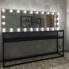 Купить Зеркало ESPRESSO и стол CALIFORNIA - коричневый, набор парикмахера, место парикмахера, стол визажиста